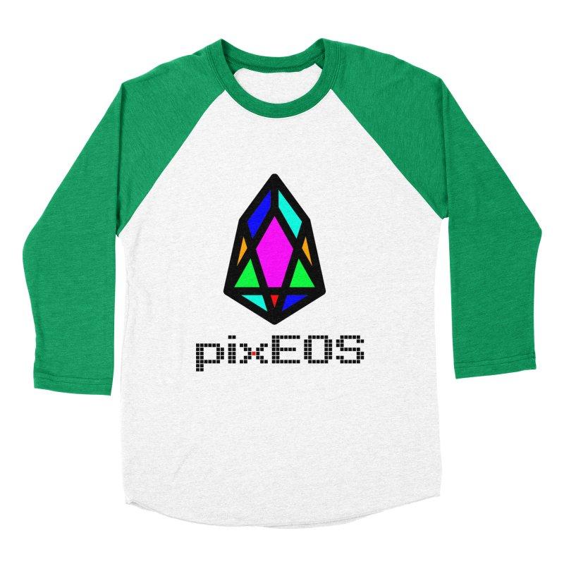 PIX - pixEOS Logo Classic2 Men's Baseball Triblend Longsleeve T-Shirt by My pixEOS Artist Shop