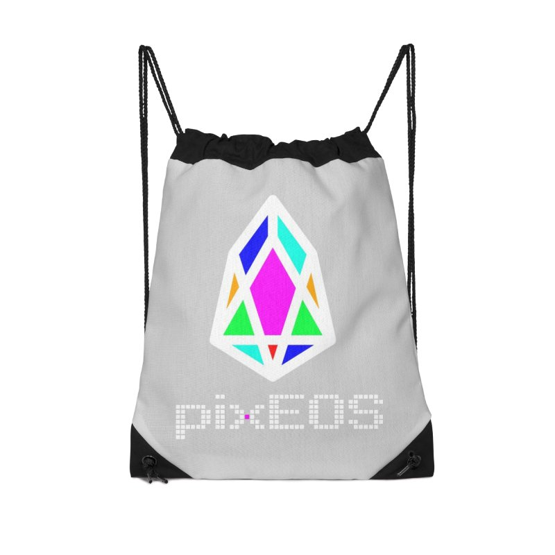 PIX - Nega-pixEOS Accessories Drawstring Bag Bag by My pixEOS Artist Shop