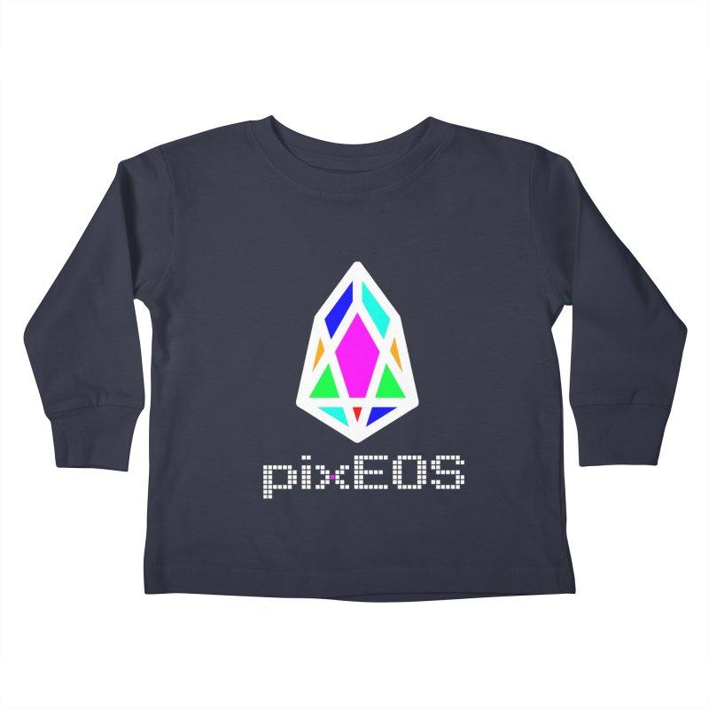 PIX - Nega-pixEOS Kids Toddler Longsleeve T-Shirt by My pixEOS Artist Shop