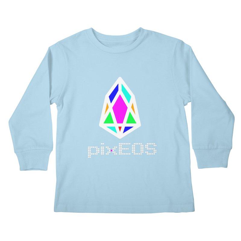 PIX - Nega-pixEOS Kids Longsleeve T-Shirt by My pixEOS Artist Shop