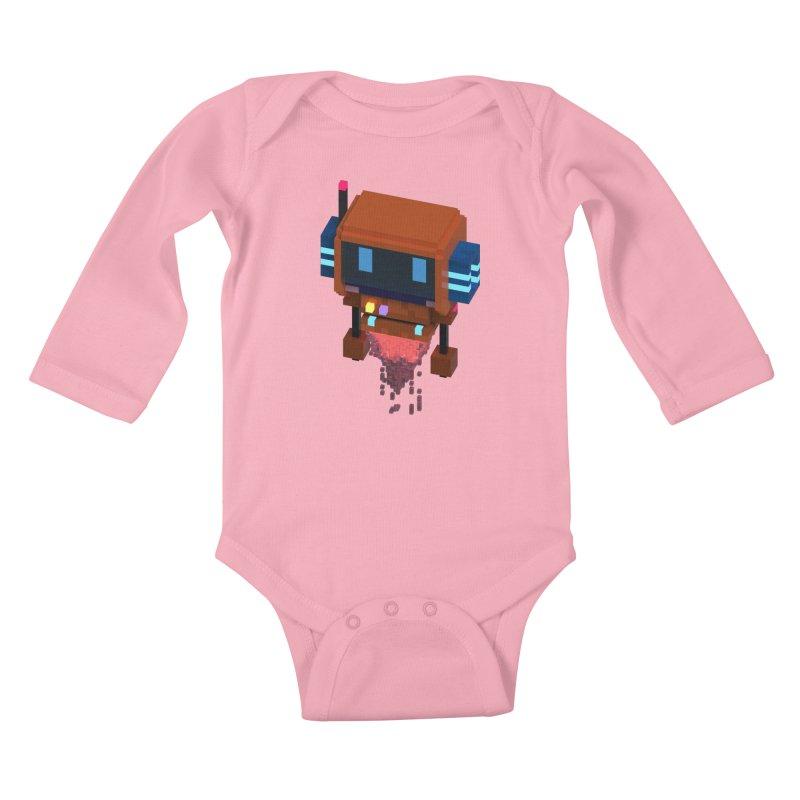 FY - Voxie Rocket Kids Baby Longsleeve Bodysuit by My pixEOS Artist Shop