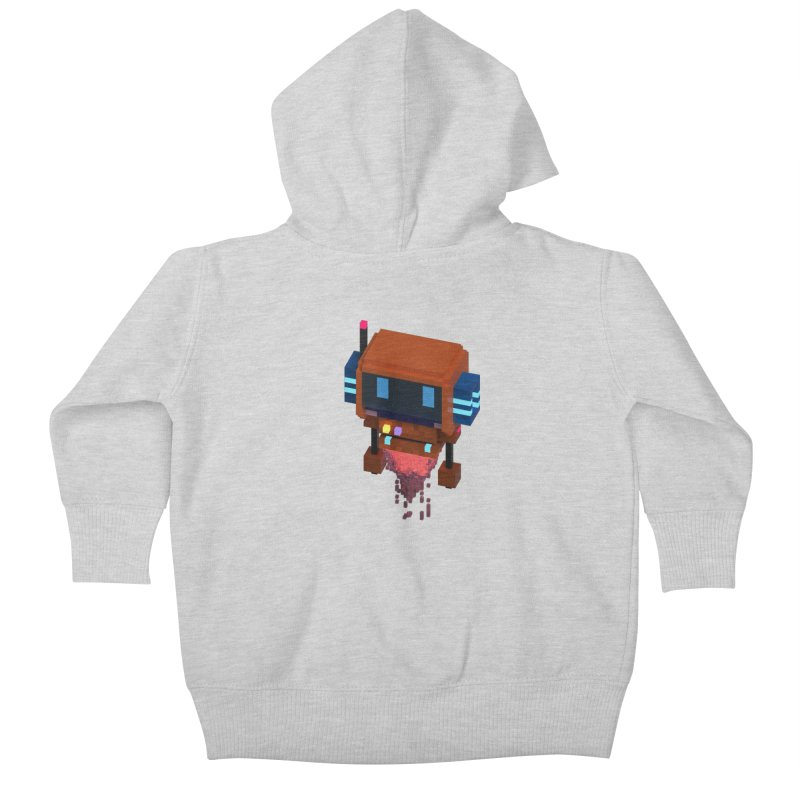 FY - Voxie Rocket Kids Baby Zip-Up Hoody by My pixEOS Artist Shop