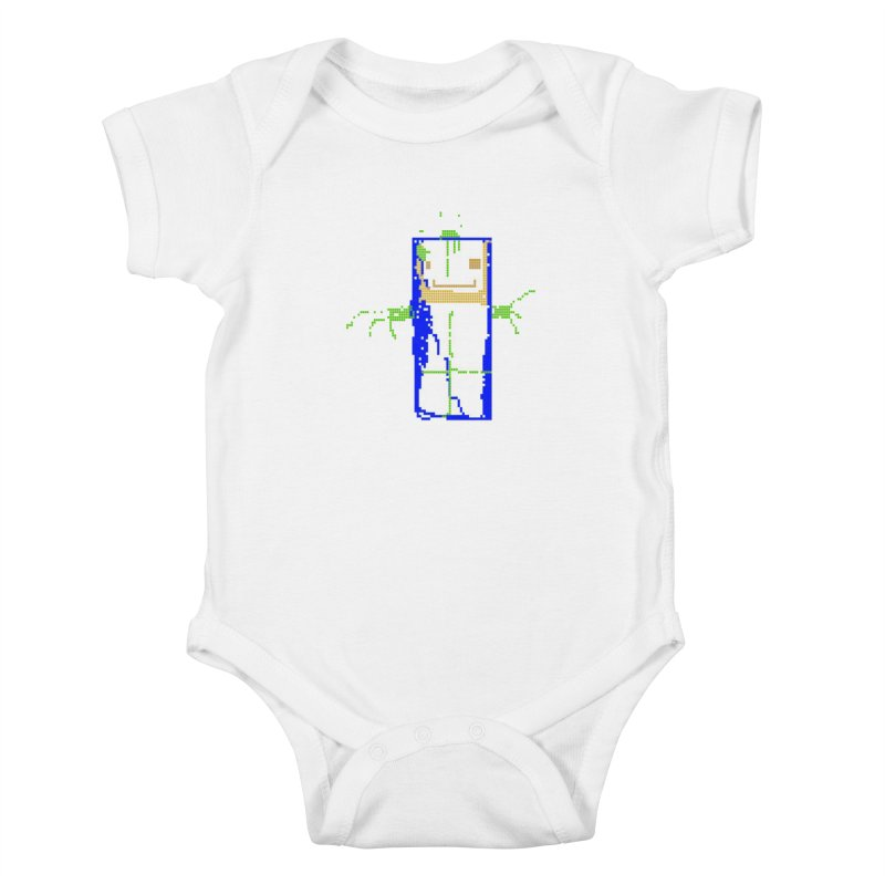YM - Hello World Kids Baby Bodysuit by My pixEOS Artist Shop