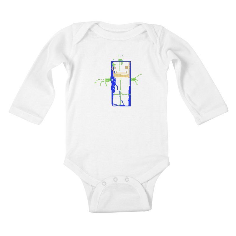 YM - Hello World Kids Baby Longsleeve Bodysuit by My pixEOS Artist Shop