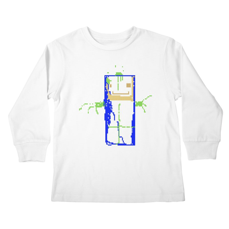 YM - Hello World Kids Longsleeve T-Shirt by My pixEOS Artist Shop