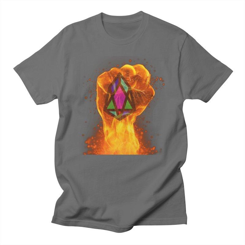 PIX - pixEOS FLAMING FIST Men's T-Shirt by My pixEOS Artist Shop