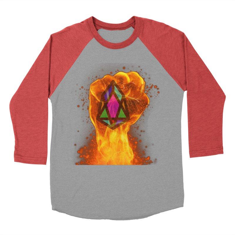 PIX - pixEOS FLAMING FIST Men's Baseball Triblend Longsleeve T-Shirt by My pixEOS Artist Shop