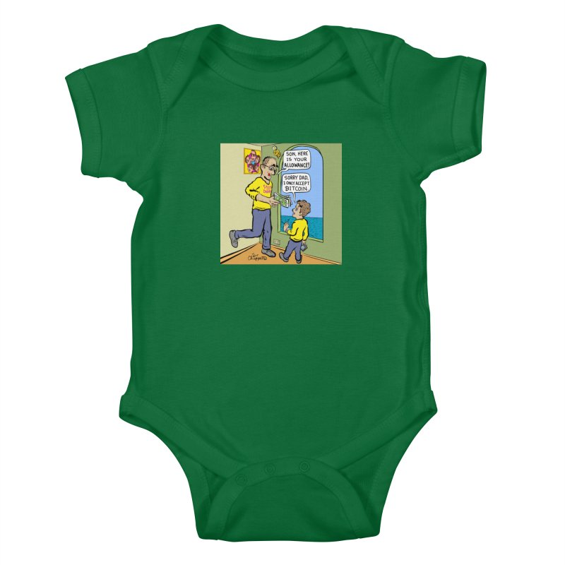 JC - Bitcoin Only Kids Baby Bodysuit by My pixEOS Artist Shop