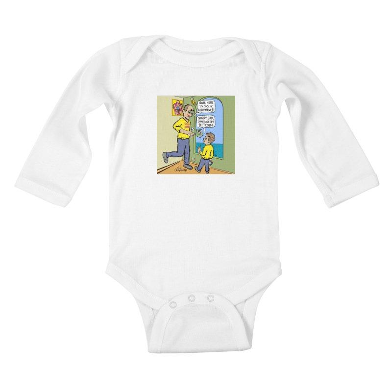 JC - Bitcoin Only Kids Baby Longsleeve Bodysuit by My pixEOS Artist Shop