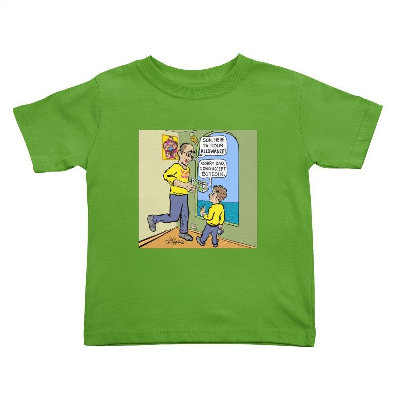JC - Bitcoin Only Kids Toddler T-Shirt by My pixEOS Artist Shop