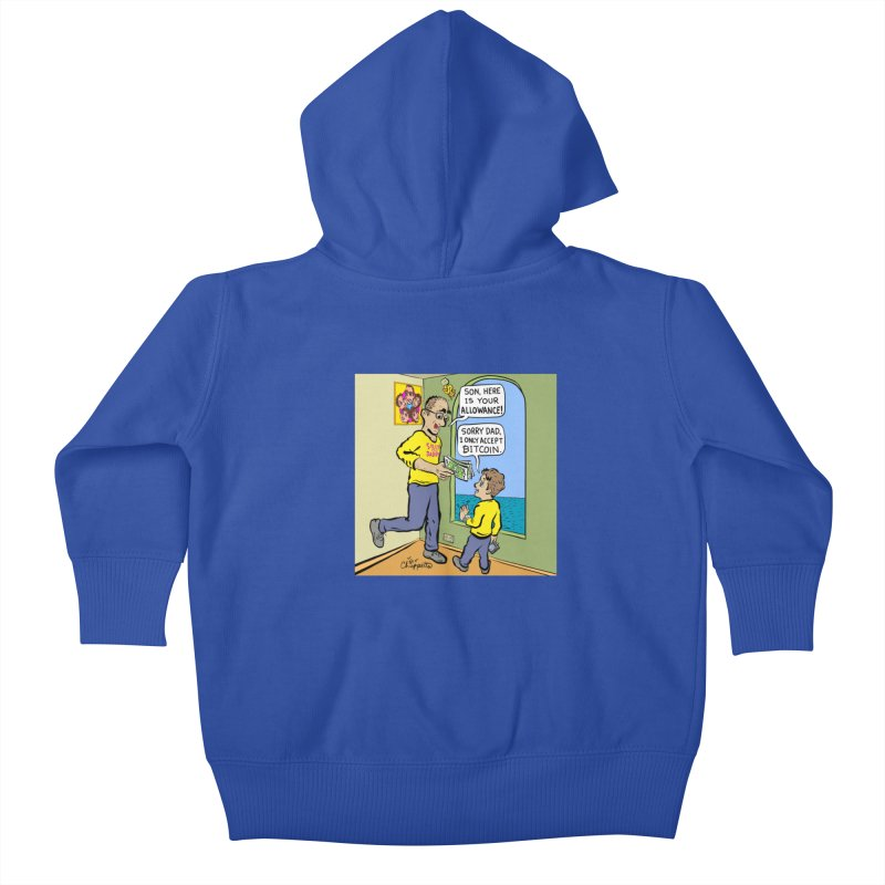 JC - Bitcoin Only Kids Baby Zip-Up Hoody by My pixEOS Artist Shop