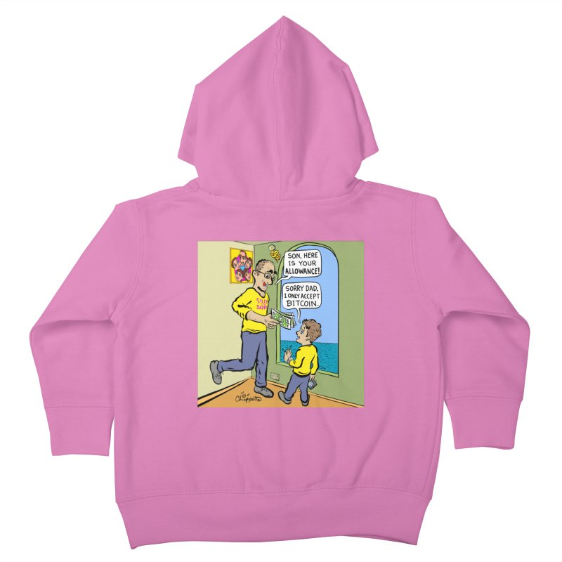 JC - Bitcoin Only Kids Toddler Zip-Up Hoody by My pixEOS Artist Shop