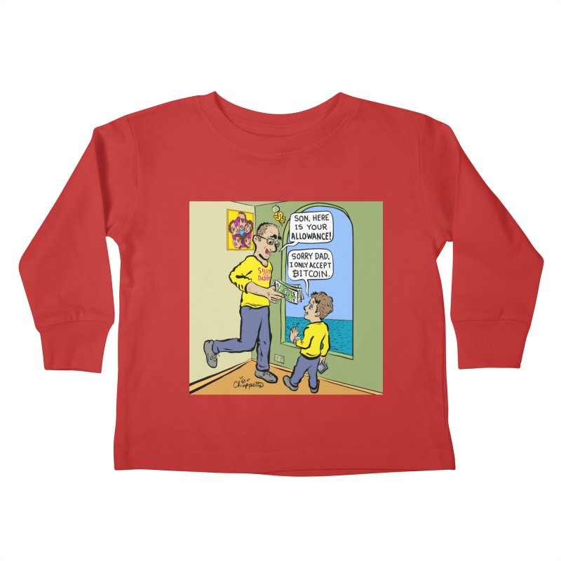 JC - Bitcoin Only Kids Toddler Longsleeve T-Shirt by My pixEOS Artist Shop