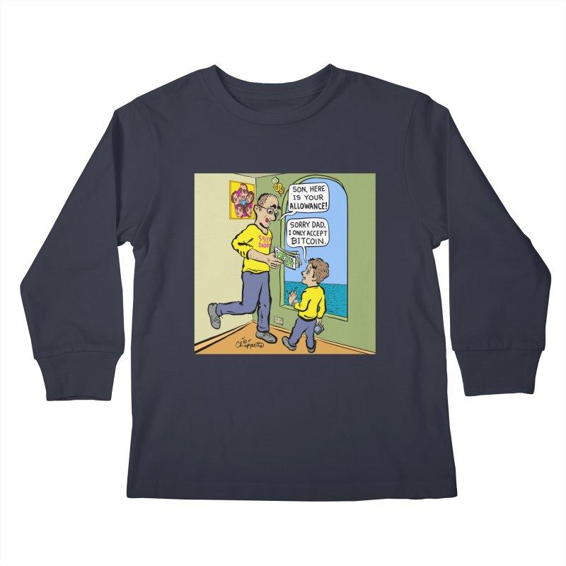 JC - Bitcoin Only Kids Longsleeve T-Shirt by My pixEOS Artist Shop