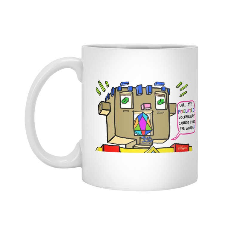 JC - Pixelated Vocabulary Accessories Standard Mug by My pixEOS Artist Shop
