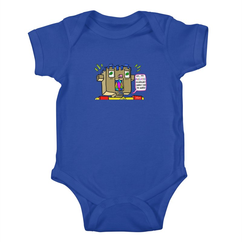 JC - Pixelated Vocabulary Kids Baby Bodysuit by My pixEOS Artist Shop