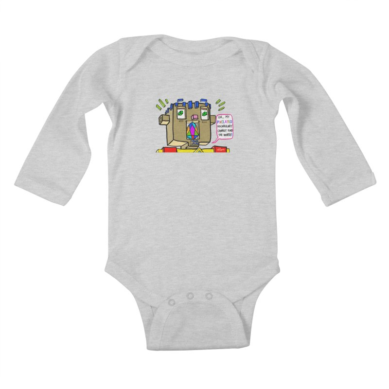 JC - Pixelated Vocabulary Kids Baby Longsleeve Bodysuit by My pixEOS Artist Shop