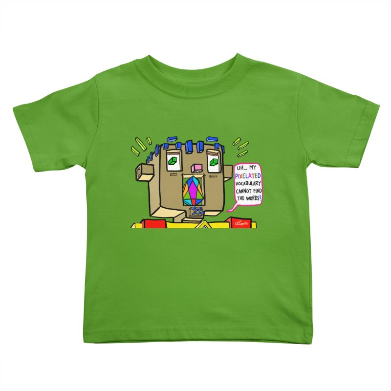 JC - Pixelated Vocabulary Kids Toddler T-Shirt by My pixEOS Artist Shop