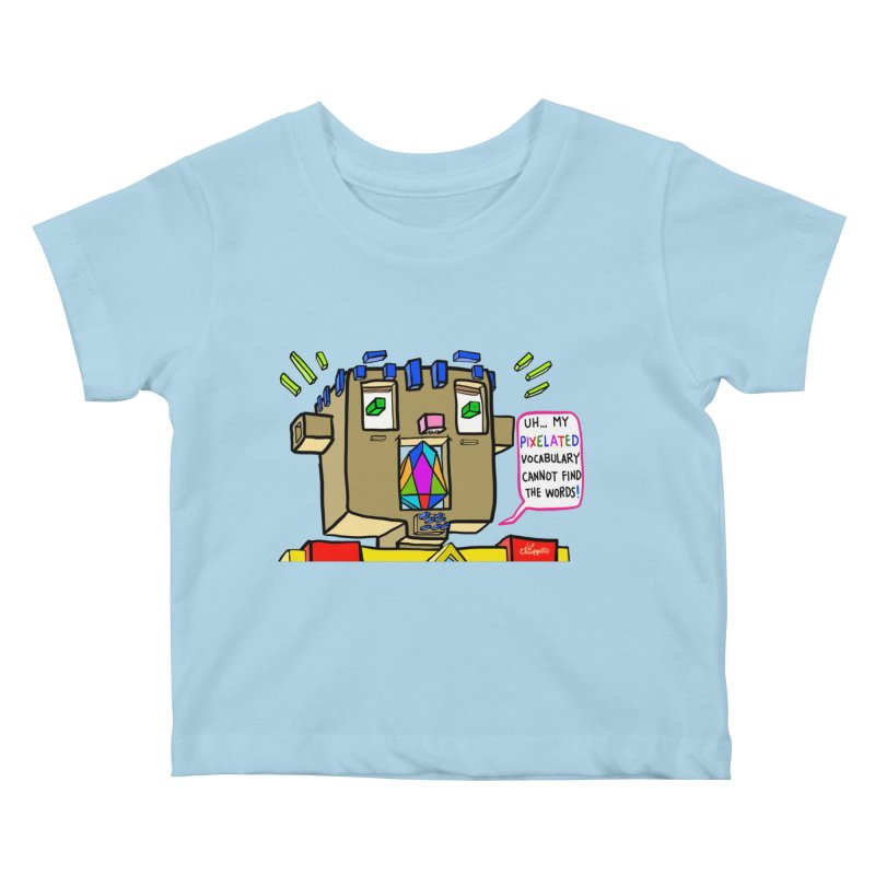 JC - Pixelated Vocabulary Kids Baby T-Shirt by My pixEOS Artist Shop