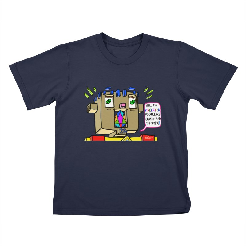 JC - Pixelated Vocabulary Kids T-Shirt by My pixEOS Artist Shop