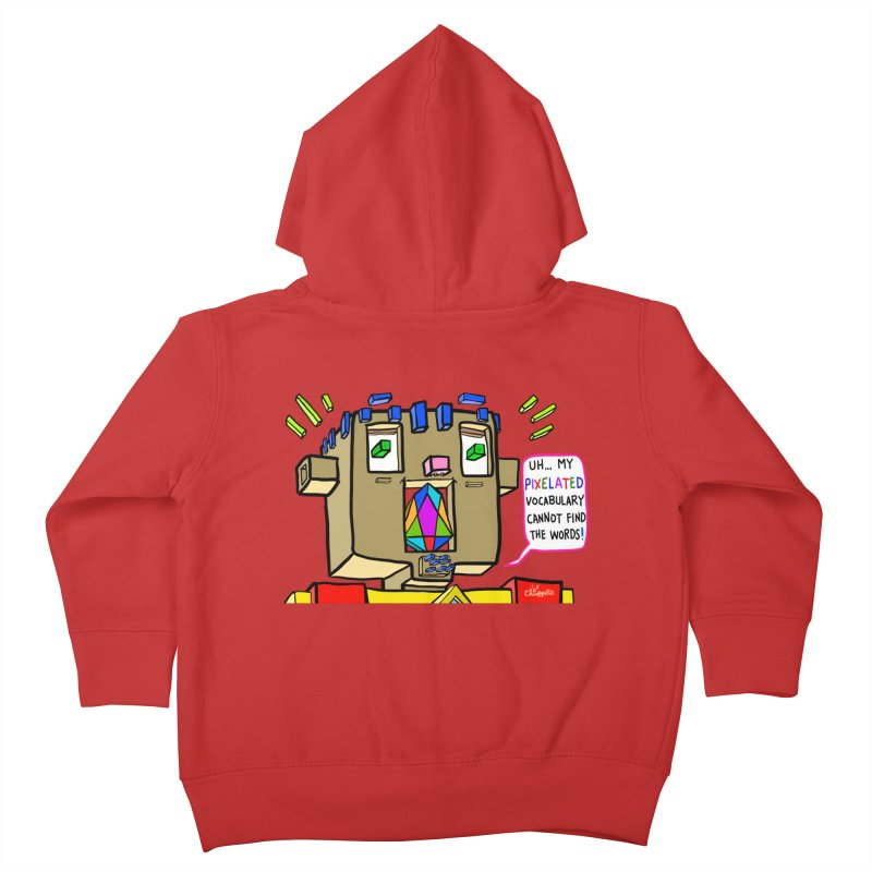 JC - Pixelated Vocabulary Kids Toddler Zip-Up Hoody by My pixEOS Artist Shop