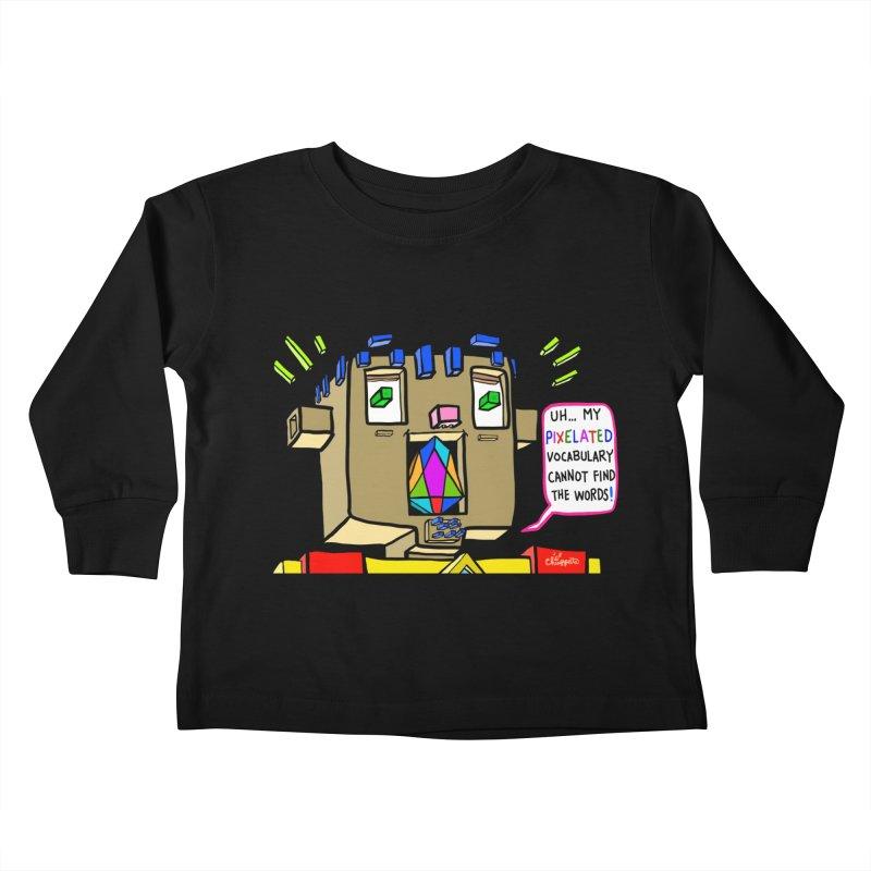 JC - Pixelated Vocabulary Kids Toddler Longsleeve T-Shirt by My pixEOS Artist Shop