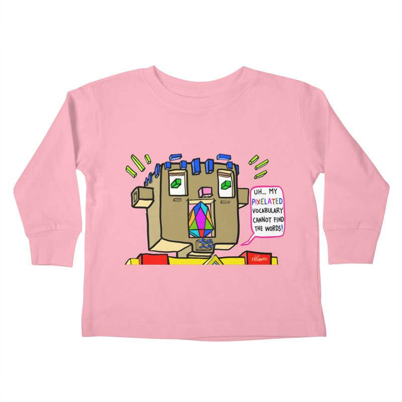 JC - Pixelated Vocabulary Kids Toddler Longsleeve T-Shirt by My pixEOS Artist Shop