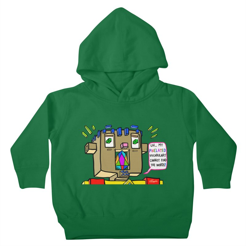 JC - Pixelated Vocabulary Kids Toddler Pullover Hoody by My pixEOS Artist Shop