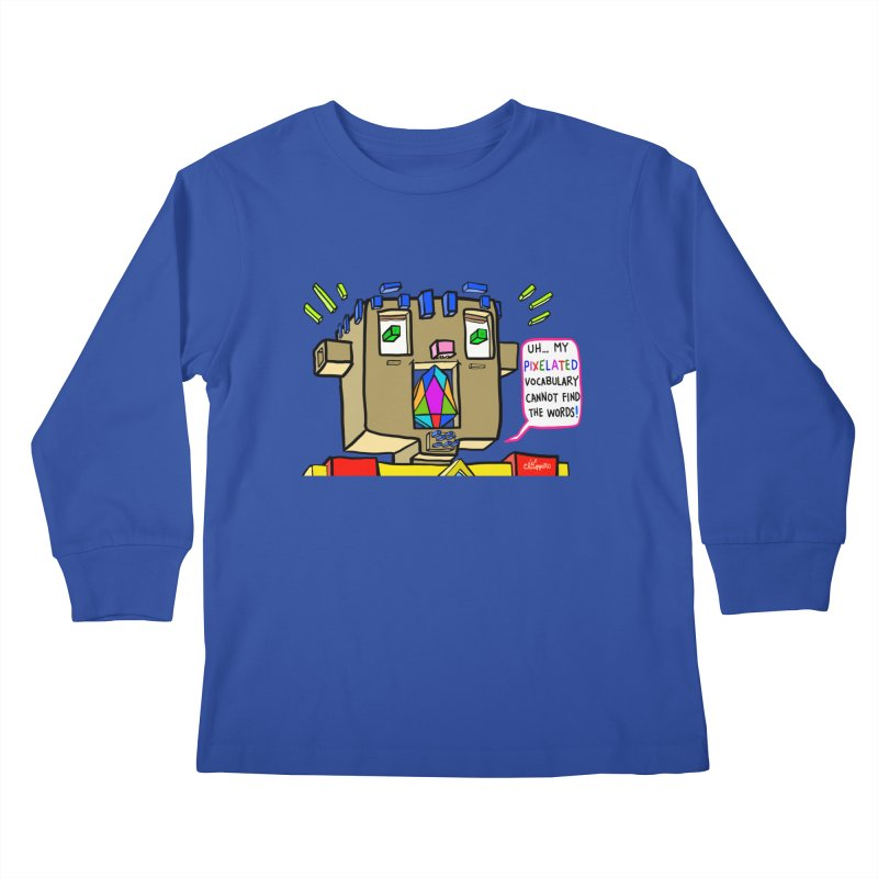 JC - Pixelated Vocabulary Kids Longsleeve T-Shirt by My pixEOS Artist Shop