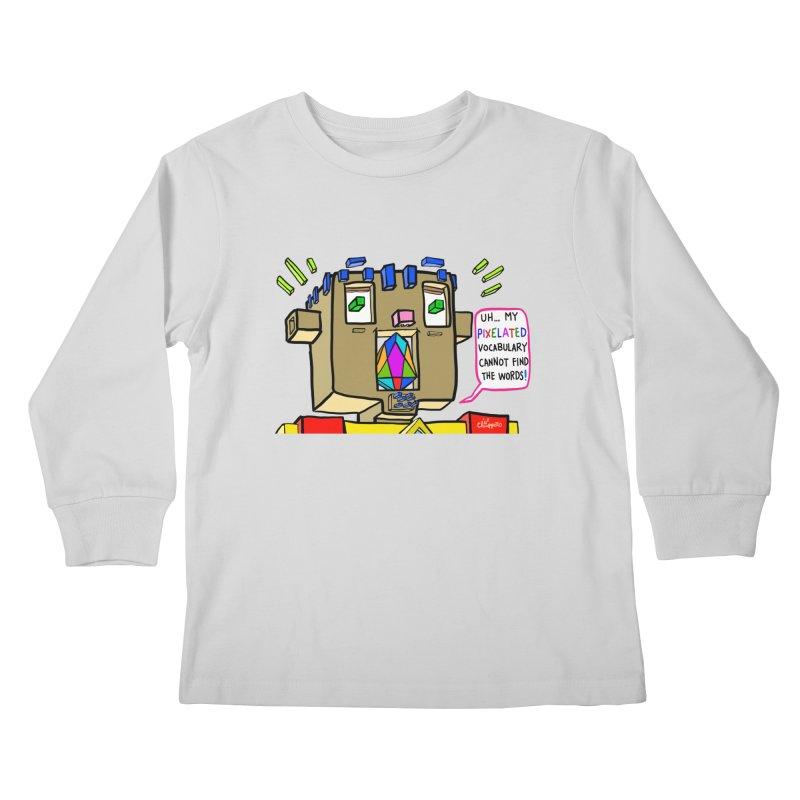 JC - Pixelated Vocabulary Kids Longsleeve T-Shirt by My pixEOS Artist Shop