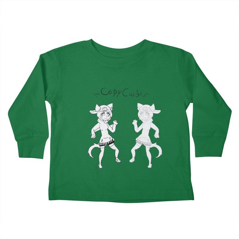 HA - Copy Cat Kids Toddler Longsleeve T-Shirt by My pixEOS Artist Shop