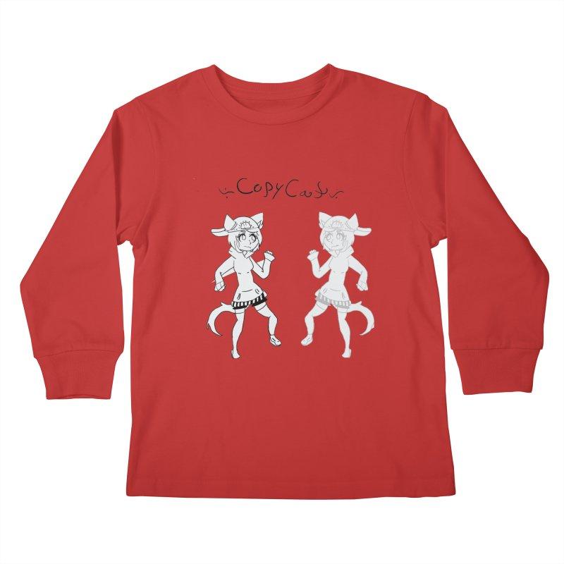HA - Copy Cat Kids Longsleeve T-Shirt by My pixEOS Artist Shop