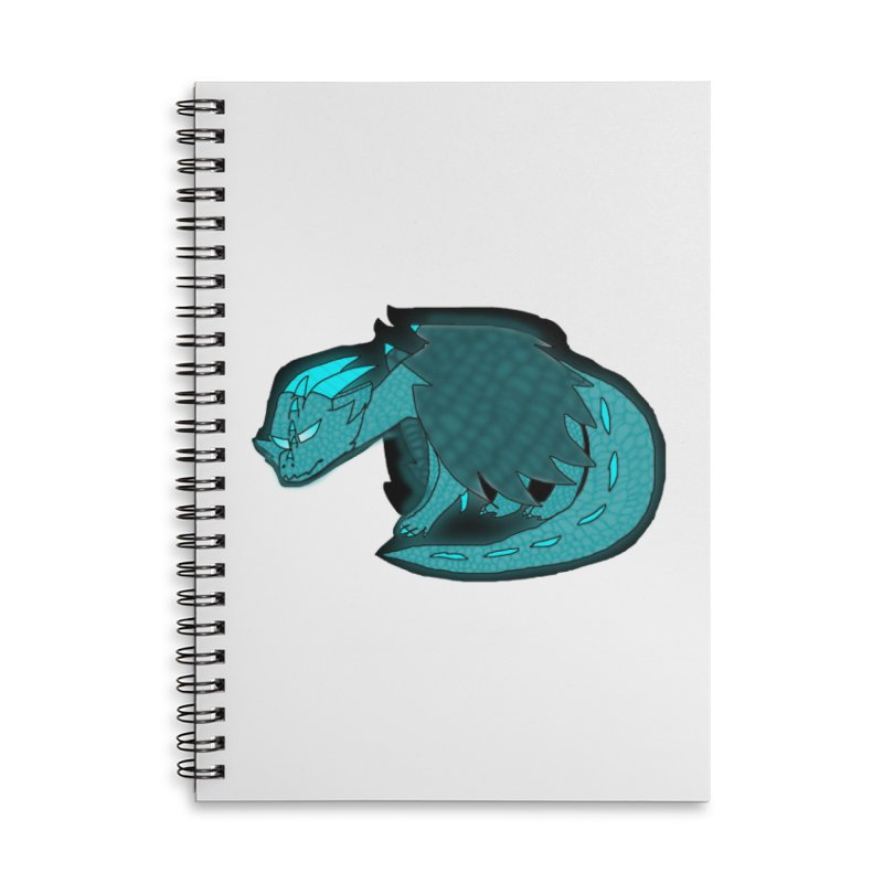 HA - Dragon Accessories Lined Spiral Notebook by My pixEOS Artist Shop