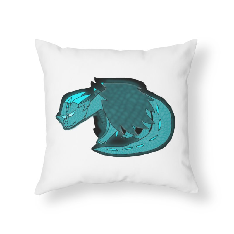 HA - Dragon Home Throw Pillow by My pixEOS Artist Shop