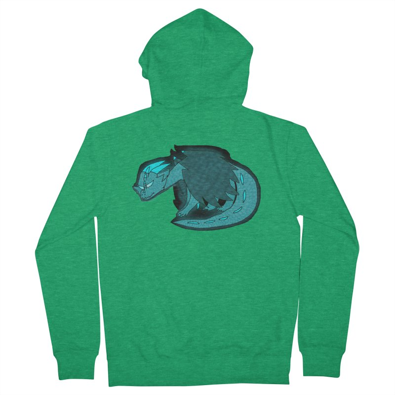 HA - Dragon Men's French Terry Zip-Up Hoody by My pixEOS Artist Shop