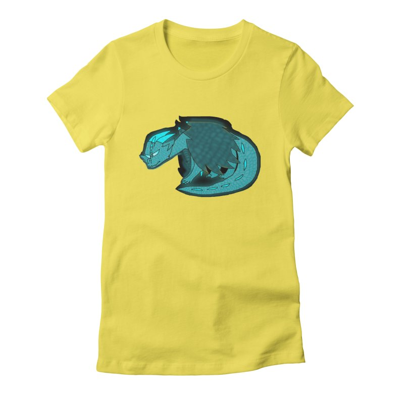 HA - Dragon Women's Fitted T-Shirt by My pixEOS Artist Shop