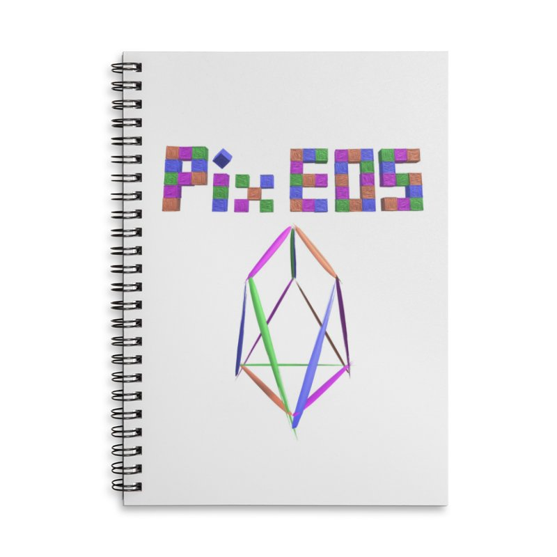 HA - pixEOS Logo Accessories Lined Spiral Notebook by My pixEOS Artist Shop