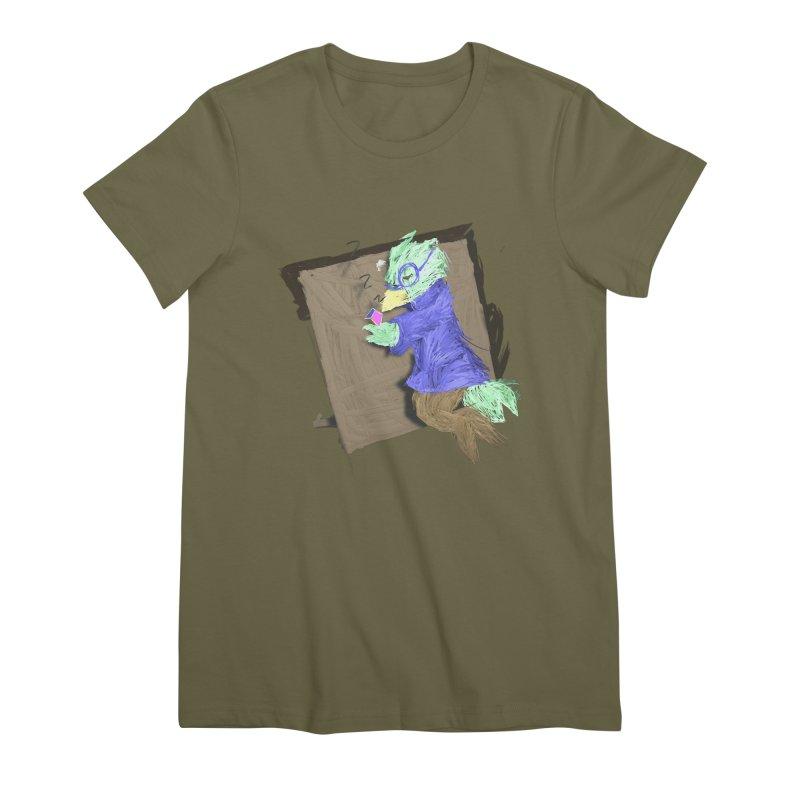 HA - pixEOS Bird Women's Premium T-Shirt by My pixEOS Artist Shop