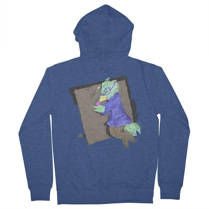 HA - pixEOS Bird Men's French Terry Zip-Up Hoody by My pixEOS Artist Shop