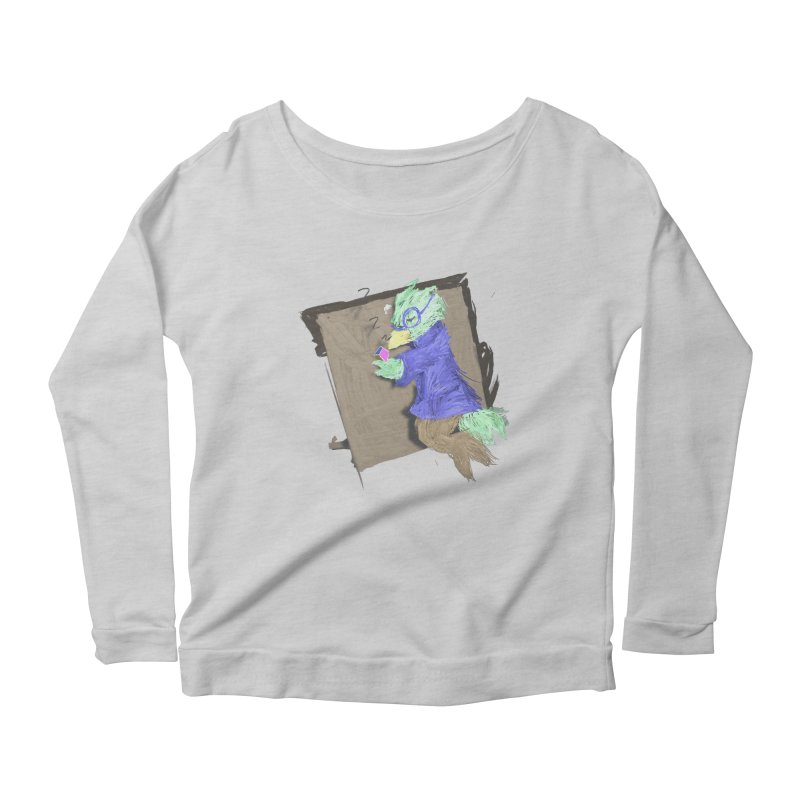 HA - pixEOS Bird Women's Scoop Neck Longsleeve T-Shirt by My pixEOS Artist Shop