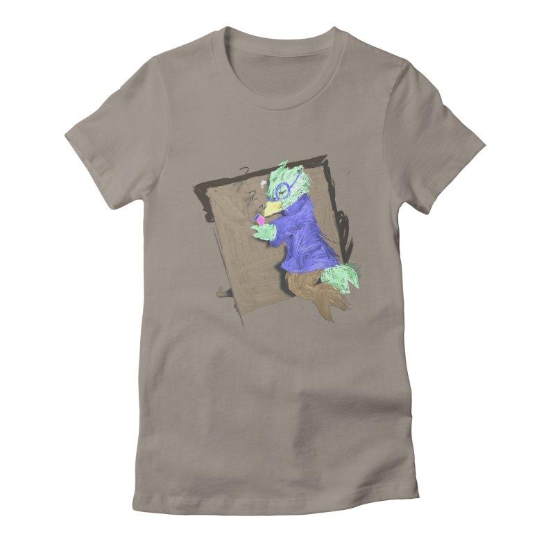HA - pixEOS Bird Women's Fitted T-Shirt by My pixEOS Artist Shop