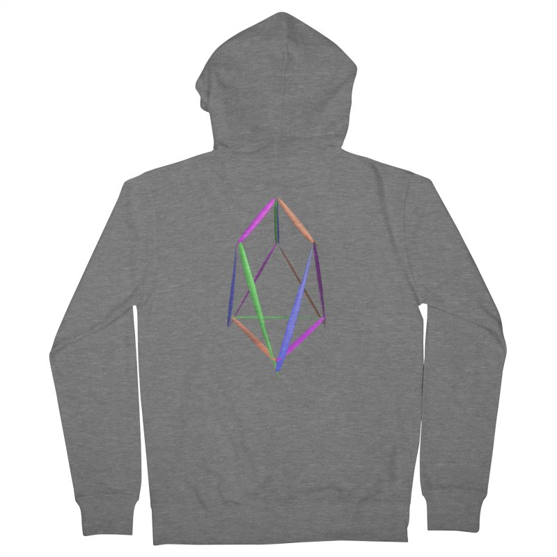 HA - pixEOS Logo2 Men's French Terry Zip-Up Hoody by My pixEOS Artist Shop