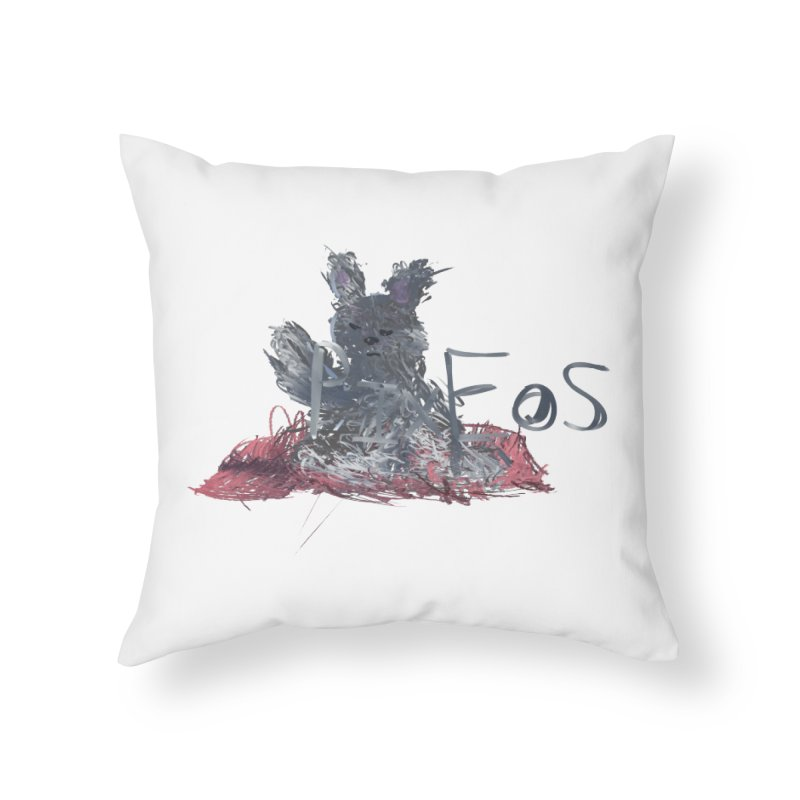 HA - pixEOS Bunny Home Throw Pillow by My pixEOS Artist Shop