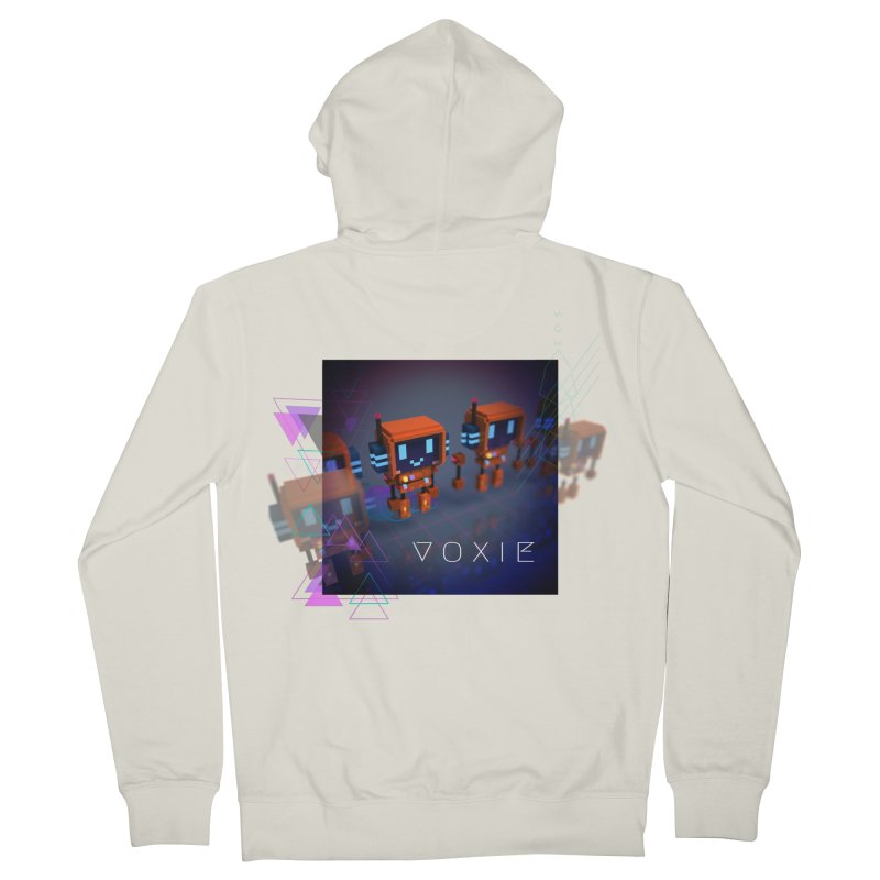 FY - Cyberpunk Voxie Men's French Terry Zip-Up Hoody by My pixEOS Artist Shop