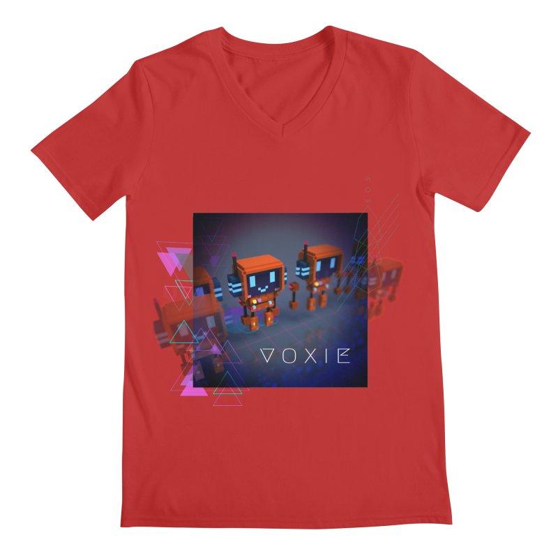 FY - Cyberpunk Voxie Men's Regular V-Neck by My pixEOS Artist Shop