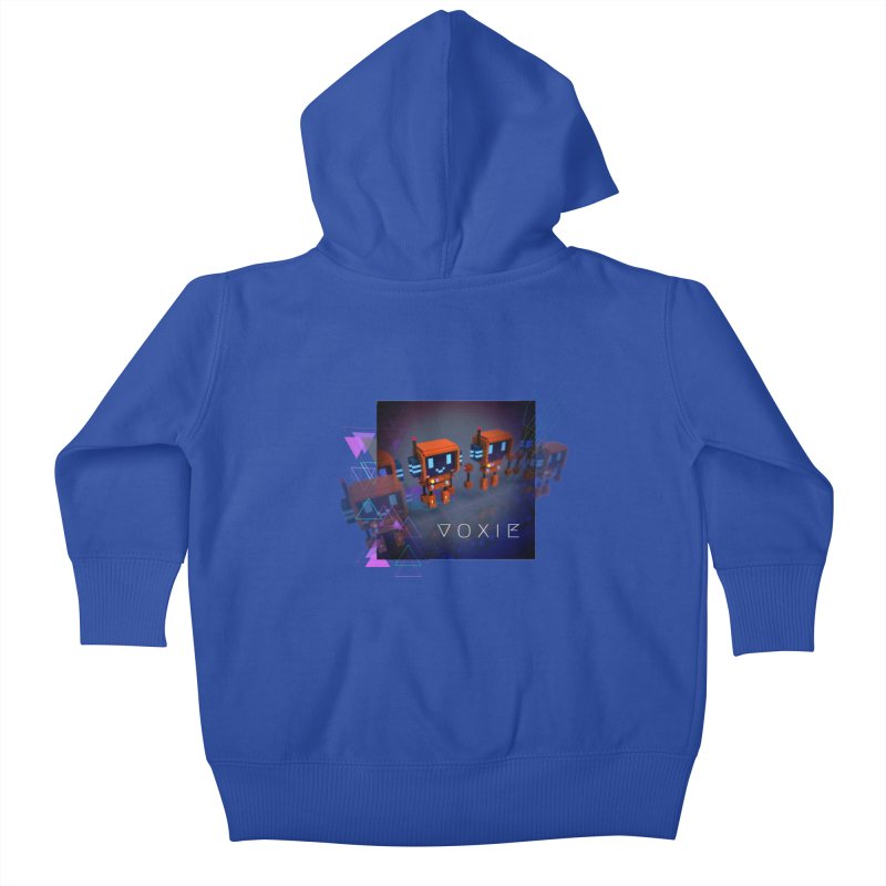 FY - Cyberpunk Voxie Kids Baby Zip-Up Hoody by My pixEOS Artist Shop
