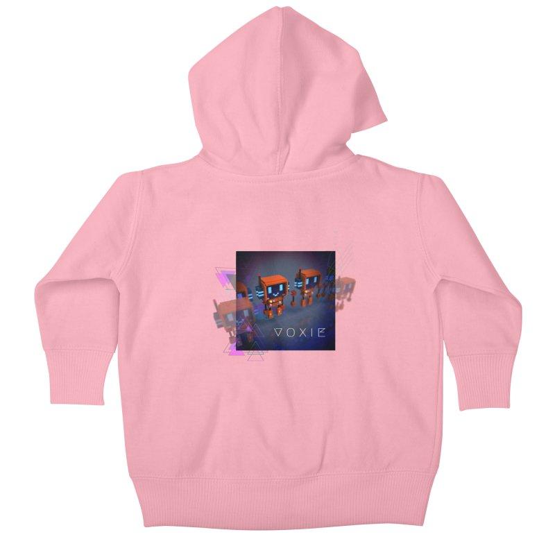 FY - Cyberpunk Voxie Kids Baby Zip-Up Hoody by My pixEOS Artist Shop