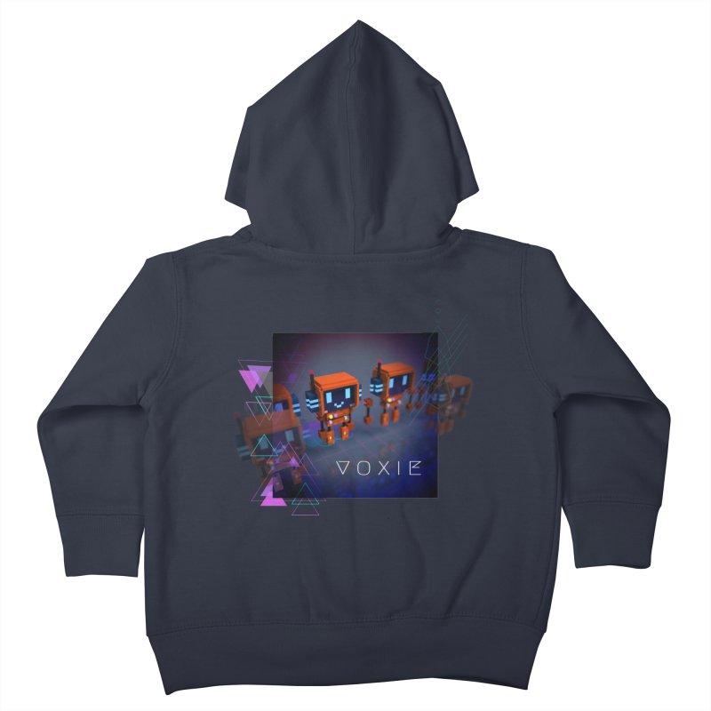 FY - Cyberpunk Voxie Kids Toddler Zip-Up Hoody by My pixEOS Artist Shop