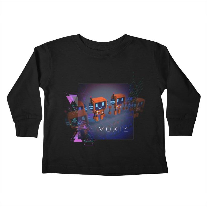 FY - Cyberpunk Voxie Kids Toddler Longsleeve T-Shirt by My pixEOS Artist Shop