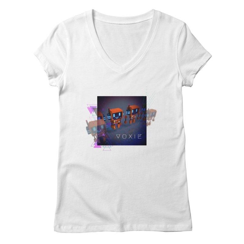 FY - Cyberpunk Voxie Women's Regular V-Neck by My pixEOS Artist Shop
